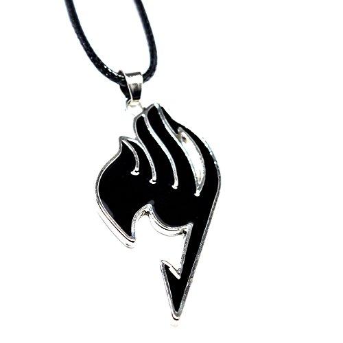 Cosplay Anime Fairy Tail Guild Logo Anhänger–Natsu Halskette in Geschenkbox (Belle The Birthday Fairy)