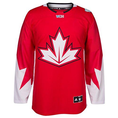 adidas Team Canada 2016 World Cup of Hockey Men's Premier Red Jersey Trikot (Eishockey-kanada-bekleidung)