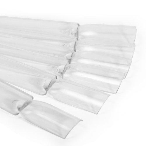 50x Clear False Nail Art Tips Sticks polish Display Fan for Practice salon