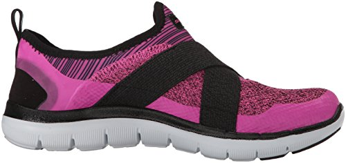 Skechers Flex Appeal 2.0 New Image, Baskets Basses Femme Black