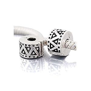 """Andante-Stones Silber Bead Clip Stopper """"Triangel"""" Element Kugel für European Beads + Organzasäckchen"""