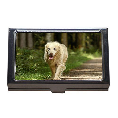 Visitenkartenetui, Golden Retriever Dog Retriever Hündin Old Golden, Visitenkartenetui Edelstahl