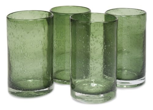 Artland Iris Highball Glasses, Sage, Set of 4 by Artland Iris Highball