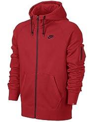 Nike Aw77 Fleece Sweat à capuche zippé Homme Dark Grey