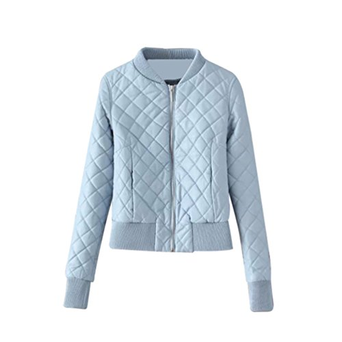 NiSeng Damen Bomberjacke Jacke Diamond Quilt Jacket Motorradjacke Biker Lederjacke Oberbekleidung...