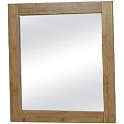 Espejo pared de baño - Muy buena calidad - Estilo exótico - en BAMBU