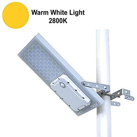 HEX 780X Solar Street Light (Warm White LED) , 3-Level Power Setting, Lithium Battery, Fits Max Pole Diameter 2.5