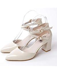 ZHZNVX Scarpe da donna Camoscio Estate Comfort Heels Tacco a spillo Nero/Rosa / Mandorla, Nero, US6 / EU36 / UK4 / CN36