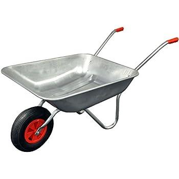 65L Metal Galvanised Wheelbarrow Barrow Garden Equipment Transport Allotment