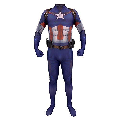 Avengers Haustier Kostüm - YXIAOL Captain America Superheld Kostüm, Halloween Party Kostüm, Avengers Cosplay Kostüm, Belted Sling, Erwachsener/Kind,Child-XL