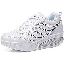 41346e9cded64 Solshine Damen Mädchen Plateau mit Keilabsatz Walkmaxx Schuhe Runners  Turnschuhe Fitnessschuhe