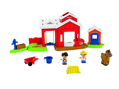Mattel BFT86 - Fisher-Price Little People Pferdestall (Bauernhof Little People)