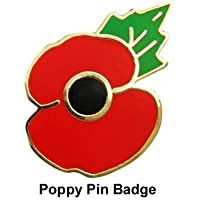 Remembrance Day Poppy Pin Badge