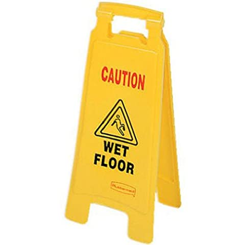 Rubbermaid Commercial Products FG611277YEL Signalisation de Sol Double Face Products avec Mention «Caution/Wet Floor» (Attention, Sol Humide),