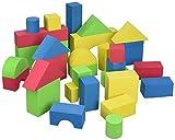 Edushape 716576 Educolor Blocks - Set di 80 blocchi educativi per costruzioni, in morbida gommapiuma