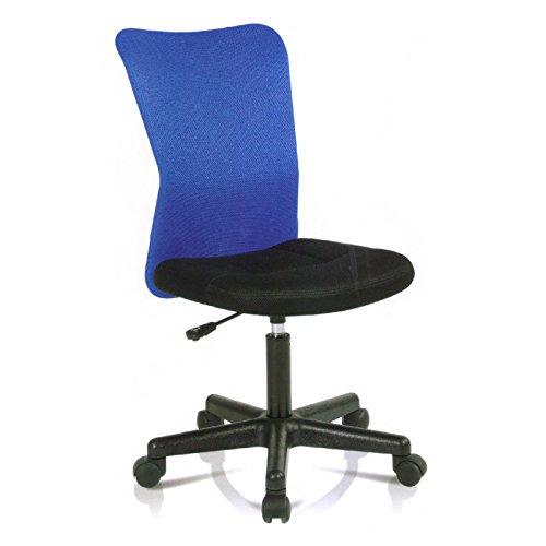 Kinderdrehstuhl Bürodrehstuhl Schreibtischstuhl Kinderschreibtischstuhl MARCEL in blau-schwarz, höhenverstellbar