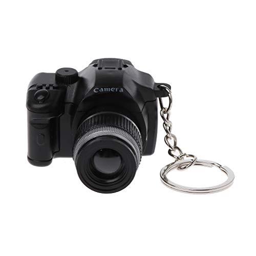 Xuniu Mini Keychain, Digitale Reflex DSLR Kamera LED Blitzlicht Torch Shutter Sound Keychain Dekoration Geschenk (Reflex-kamera)