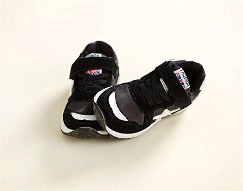 ALUK- Version Coréenne De Chaussures Pour Garçons Chaussures Occasionnelles Chaussures Pour Enfants ( couleur : Noir , taille : 26 ) Noir