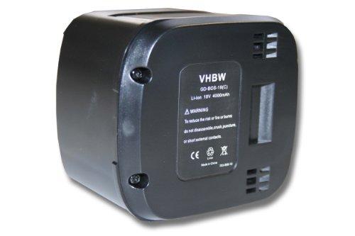 Preisvergleich Produktbild vhbw Li-Ion Akku 4000mAh (18V) für Werkzeug Bosch ALB 18 Li Laubbläser wie 2 607 336 207.