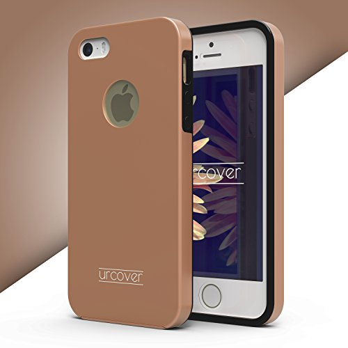 Urcover® Apple iPhone 5 / 5s / SE Handy-Hülle RUNDUM-SCHUTZ Ultra Slim 360 Grad [NEUE VERSION 2017] Grau / Rot Full Body Touch Case Schale Handy-Tasche Crystal Clear Smartphone Zubehör Cover [ unbreak Rose Gold