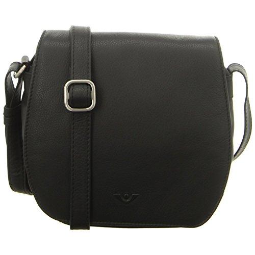 Voi Leather Design Überschlagtasche Schwarz