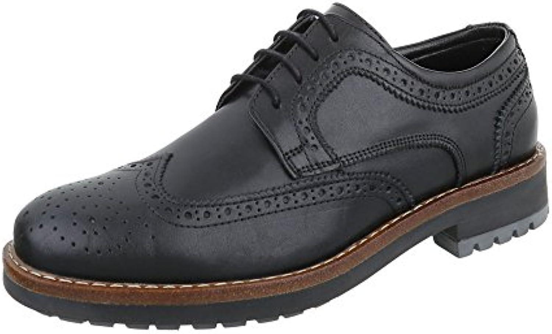 Budapester Stil Leder Herrenschuhe Low Top Blockabsatz Schnürer Schnürsenkel Ital Design Business Schuhe