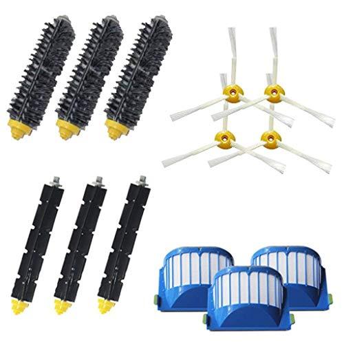 STRIR-Casa Kit Cepillos Repuestos para iRobot Roomba Serie 600 - Kit de 10 Piezas Accesorios(Cepillos Lateral, Filtros,Cepillo Principal y etc.) para Aspirador Robot