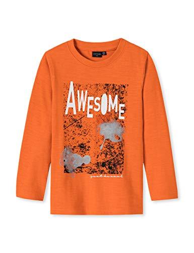 Schiesser Jungen Rebel Rules 1/1 T-Shirt Gelb (Orange 602) 92 (Herstellergröße: 092)