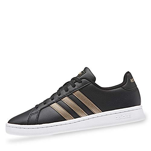 adidas Grand Court, Scarpe da Fitness Donna, Multicolore (Negbás/Cobmet/Ftwbla 000), 36 1/3 EU