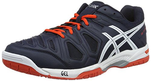 Asics Gel-Game 5, Men's Tennis Shoes, Multi-Colored (Sky Captain/White/Orange), 7.5 UK (42 EU)