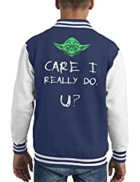 Yoda Care I Really Do U Star Wars Melania Trump Kids Varsity Jacket