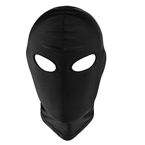 Mangotree Esclavitud Fetiche Sexy Toy Mask Mascarada Fantasía Elástico Máscara de Cabeza Cosplay Juego Hood para Parejas (Free Size, Ojos Abiertos)