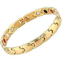 JOVIVI Damen Magnetarmband Edelstahl Magnetische Armband Armreif 4-in-1 Magnete Armband U-Form Design Armreif... preisvergleich bei billige-tabletten.eu