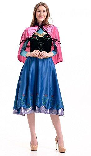 Deluxe Kostüm Eiskönigin Frozen Anna auf Reisen - Modell 2, Größe:L