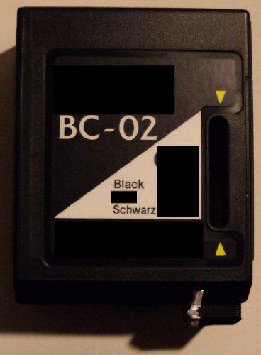 Druckerpatrone Canon BC 02 Refill black für Canon Drucker Brother HF 770 HJ 10 100 1001 200 25 400i N 10 Whisperwriter WP 7000 7000J 7500 7500J 7800 7800J BJ 5 10 10e 10sx 10ex 10v Lite 10x 100 15 15v