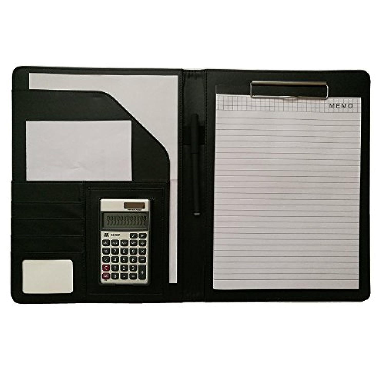 Porte documents de Conferencier Calculatrice Bloc notes Pad A4 Portfolio Homme Femme d'Affaires Organiseur Trieur Personnel Padfolio Portefeuilles