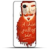 NH10 Designs 3D Printing Designer Hard Shell Polycarbonate Beard,a Chin Full Of Win,Cool Man,Long Beard,White,Brown Beard Printed Slim Back Cover Matt Finish For COOLPAD Note 5
