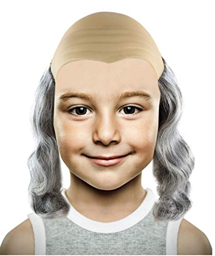 Halloween-Party Online Benjamin Franklin Wig MTO HM-221 (Kinder) (Benjamin Et Halloween)