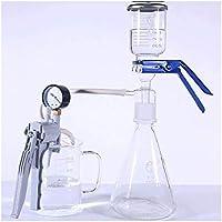 Sucastle 1000ml Glass Filtro de succión Kit Lab Glass vacío Filtración Destilación aparatos de filtrado con la Bomba de vacío Manual
