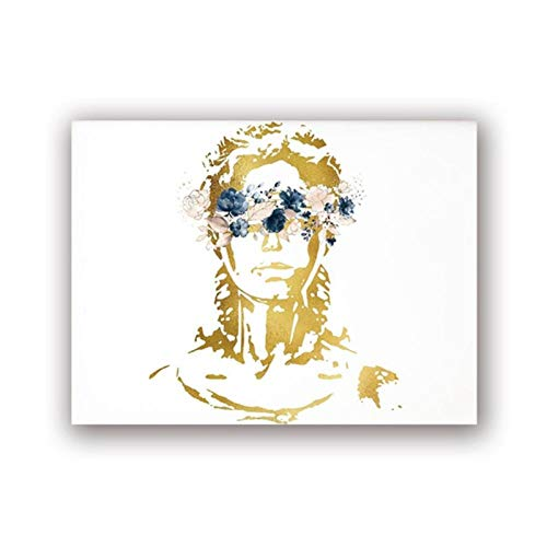 Terilizi Lady Justice Art Canvas Painting Picture Law Student Gift Attorney Poster Watercolour Art Prints Lawyer Office Wall Art Decor-40 * 50cm sin Marco