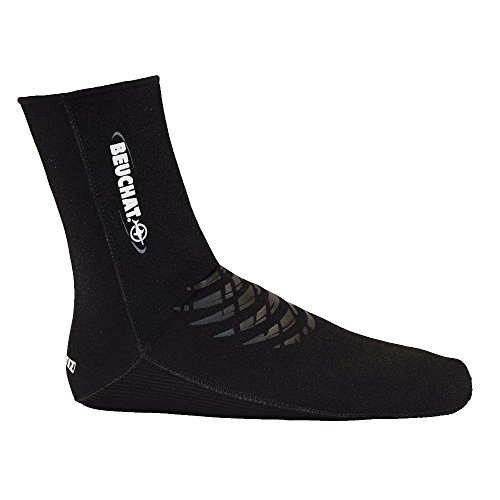 Beuchat Elaskin Socks 4 mm, color negro, talla EU 40-43