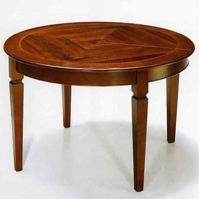 Tisch, Esstisch Nußbaum Durchmesser 120 cm mit 1 Verlängerung - Italienischer Produktion