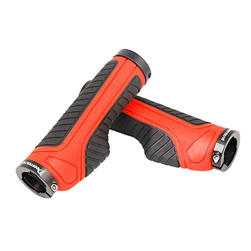 Manubri for Mountain Bike dotati di manubrio Gearshift ad assorbimento di urti (Color : Orange)