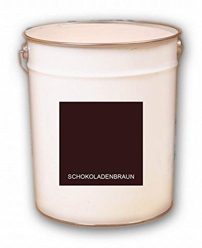 10 Liter braun Schokoladenbraun Acryl Dachfarbe Dachanstrich Ziegelfarbe Dachbeschichtung Metalldach Blechdach Acrylat Basis