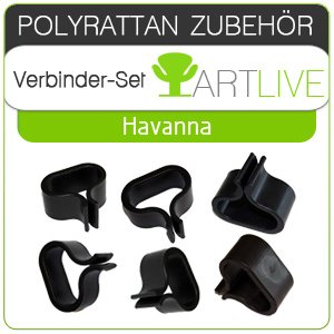 Havanna Lounge (Verbinder-Set für ARTLIVE Lounge Havanna (Schwarz & Braun))