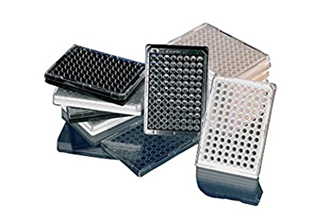 Nunc 164590bien plate, Microwell 96-well Blanc en polystyrène Optical-bottom plaques AVEC COUVERCLE EN VERRE Base Cell Culture traité CC2avec couvercle (lot de 30)