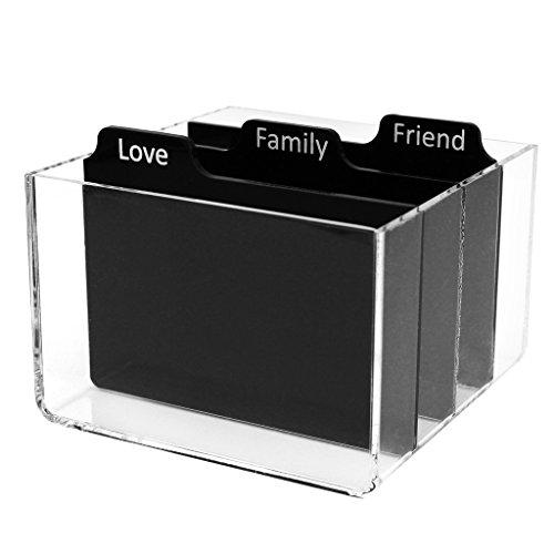 Polaroid Transparente Acryl-Fotoaufbewahrungskiste mit Trennwänden für Zink-Fotopapier 5 x 7.5 cm (Snap, Zip, Z2300).