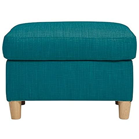 Mark Webster Designs Deluxe Foam Seat Metro Fabric Footstool, Teal