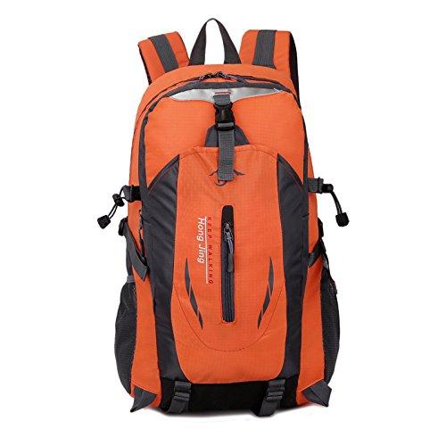 LINGE-Tasche wasserdicht Tasche Schulter lässig Studentinnen und Studenten 40L Rucksack Wandern Bergsteigen Orange
