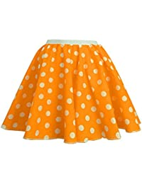"Adults Polka Dot Skirt Rock n Roll 50's/ 60's Style with neck tie 17 different colours 17"" length"